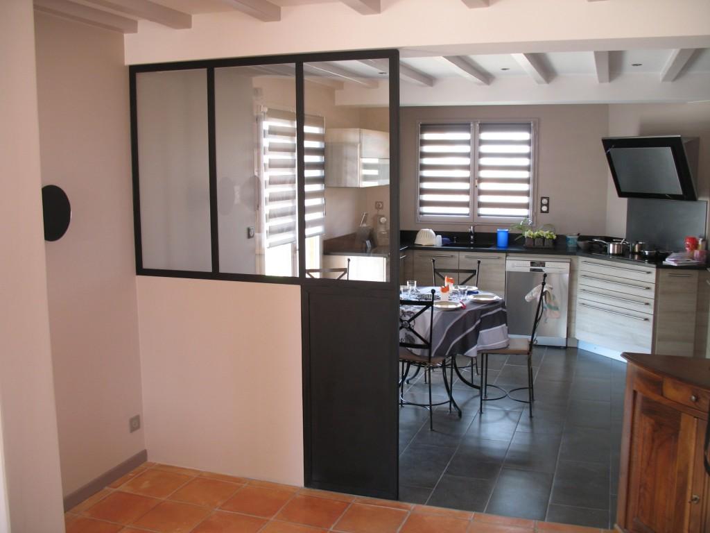 Cloison vitr e avec soubassement l 39 atelier des charmettes for Verriere cloison vitree